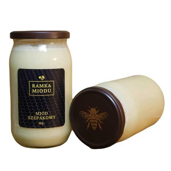 miód rzepakowy 1 kilogram z gór izerskich