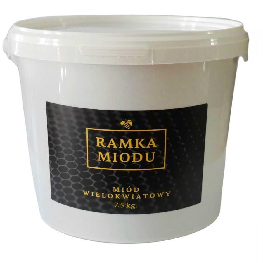 miód wielokwiatowy w wiaderku 7.5 kg