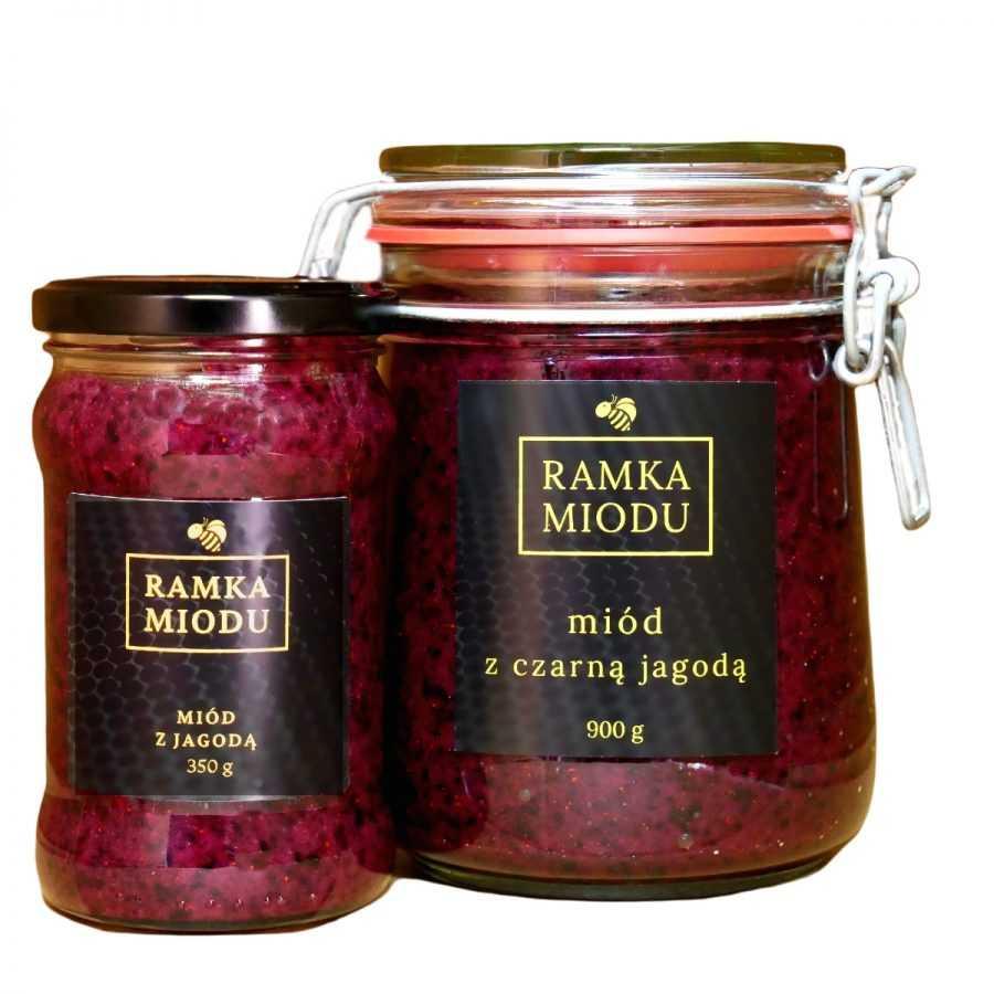 Miód z jagodami-ramkamiodu