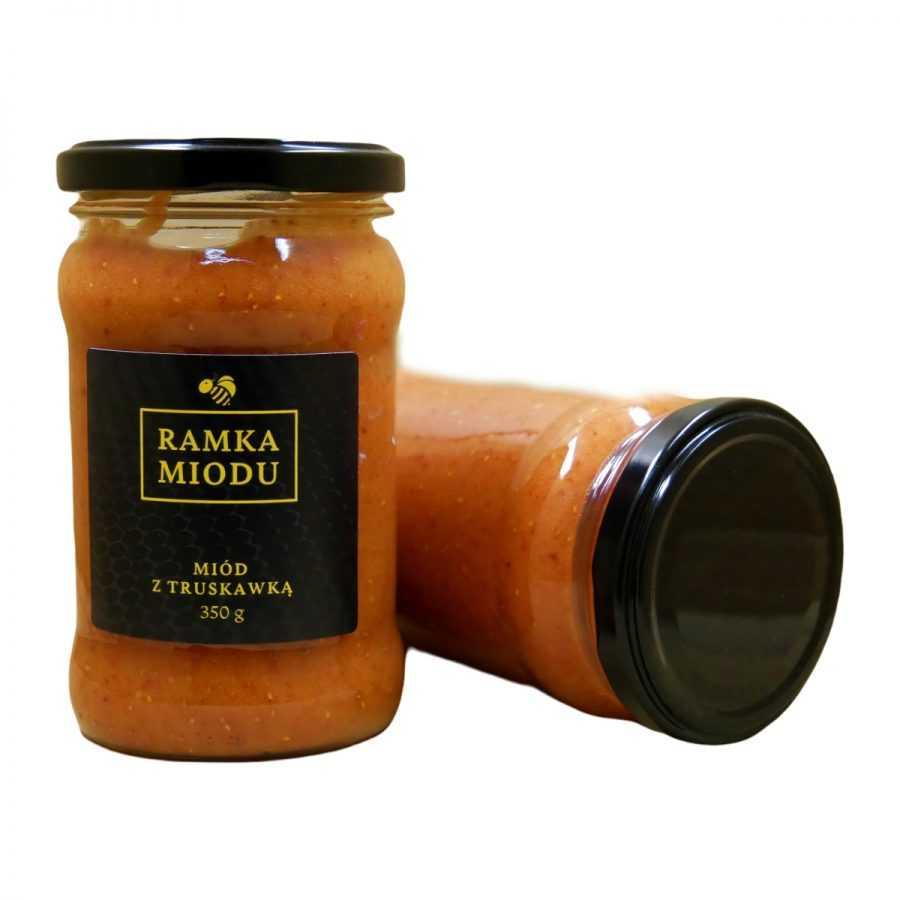 Miód z truskawkami 350 gram