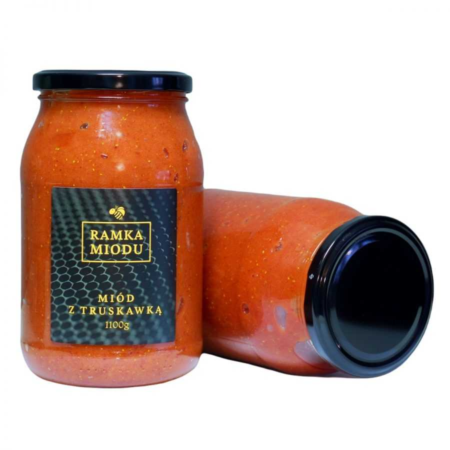 Miód z Truskawami 1100 gram