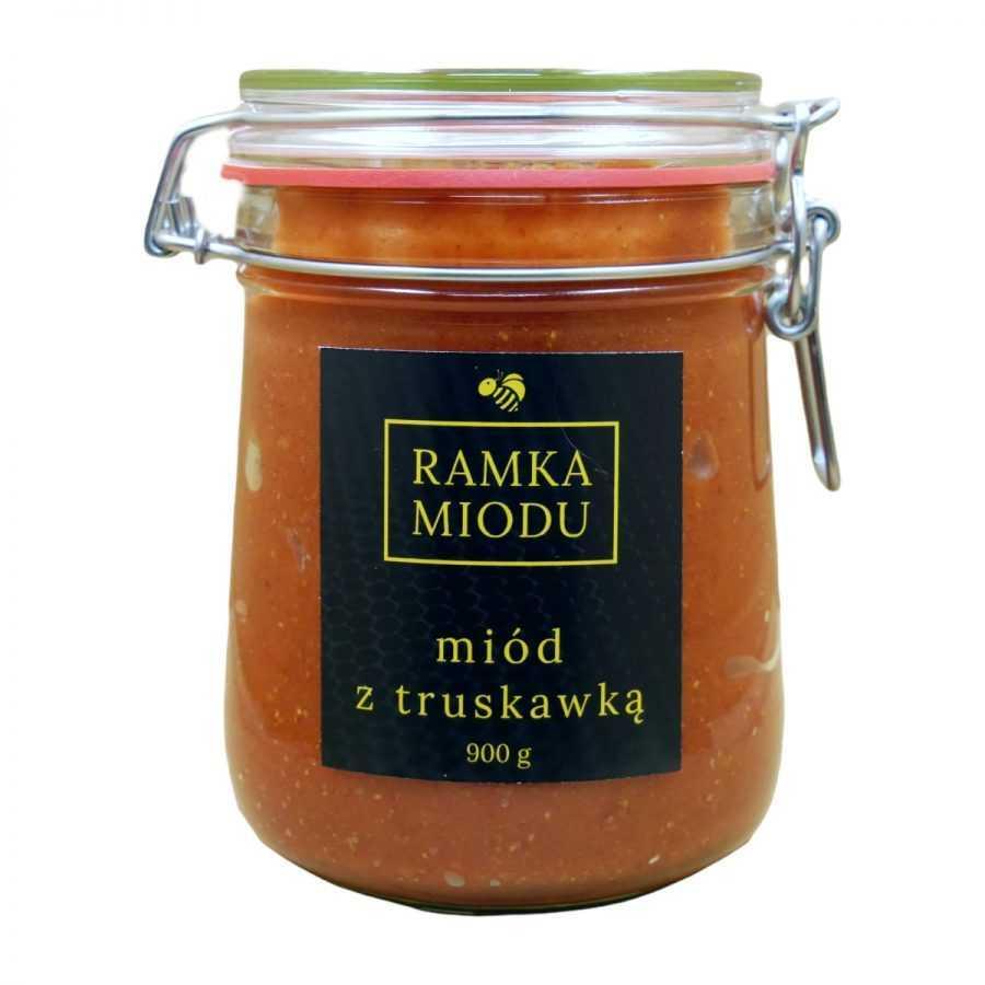 Miód z truskawkami 900 gram