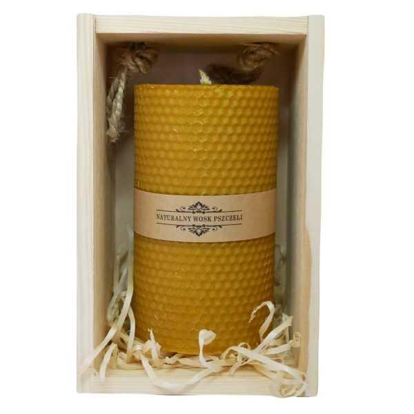 świeca-z-naturalnego-wosku-pszczelego-14cm