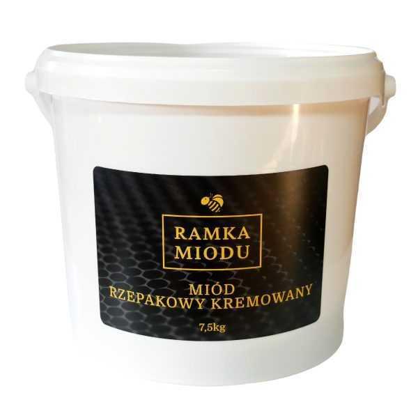 miód rzepakowy kremowany w wiaderku 7.5kilograma
